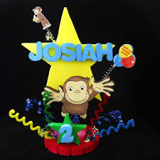 curious george cake topper curious george birthday cake topper adianezh on artfire