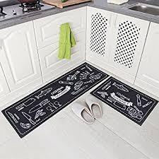Microfiber Runner Rug Carvapet 2 Non Slip Kitchen Mat Rubber Backing
