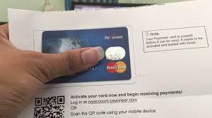 mastercard prepaid debit card tsindira 25 unabashe guhaha online ukoresheje ikarita ya payoneer