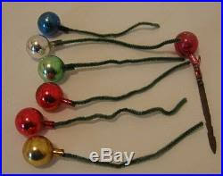 32 assorted mini glass colored ornaments balls feather