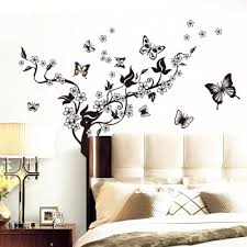 popular wall tree stickers buy cheap lots from wholesale butterfly flowers tree wall sticker decor vinyl art mural stickers china mainland