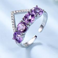 natural amethyst rings images Umcho 925 sterling silver natural amethyst ring crown various jpg