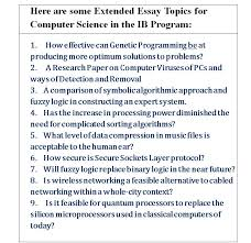 Good extended essay topics for chemistry   writinggroup    web fc  com Extended Essay topic for Chemistry or Biology ASAP