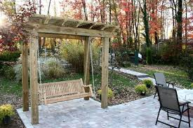 patio swing a relaxing encounter johnson patios design ideas
