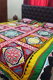 aman jee sindhi cultural handmade aplic ralli bed sheet now