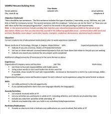 Resume For Internship Template Internship Resume Template Haadyaooverbayresort Com