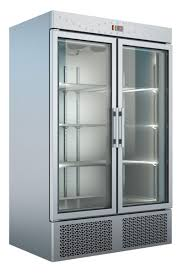 under mounted refrigerated freezer cabinet with 2 glass doors