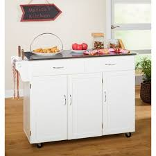 kitchen island cart with stainless steel top barrel studio garrettsville kitchen island with stainless