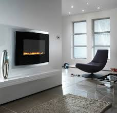 modern nuance interior with wall fireplace design hardwood