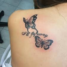 shoulder blade of two butterflies together with