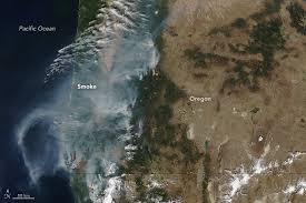 map of oregon smoke wildfires and smoke in oregon hazards