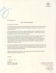 recommandation letter sheraton tianjin pdf