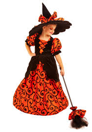 Girls Witch Halloween Costumes Curly Witch Costume