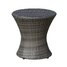 rattan side table outdoor patio tables you ll love wayfair