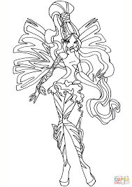 sirenix layla coloring page free printable coloring pages