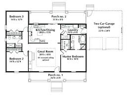 small single story house plans single level house plans with two master suites andreacortez info