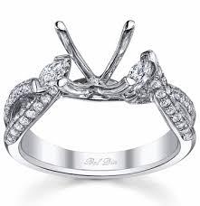 engagement ring setting twisted shank three engagement ring setting with marquise