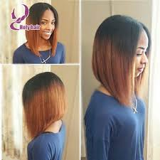 center part bob hairstyle beauty ombre brazilian full lace human hair bob wigs short haircut