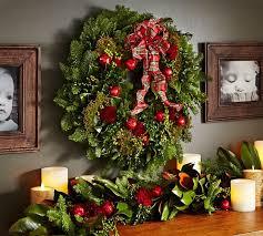 live english holiday wreath pottery barn