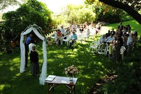 small wedding ceremony real weddings natalie and s magical garden wedding