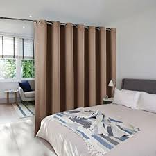 Curtain Room Separator Amazon Com Room Divider Curtain Screen Partitions Nicetown