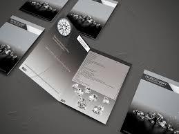 elegant serious brochure design for morgenrot diamond investments