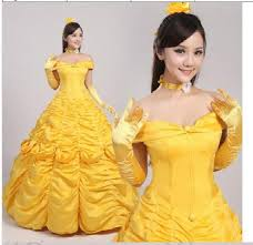 princess belle costume beauty beast cosplay fantasy