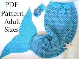 knitting pattern mermaid tail blanket adults sizes mermaid tail