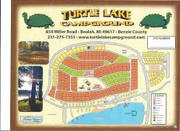 Michigan Campgrounds Map by Campground Map Sized U2013 Turtle Lake Campground