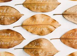 unique fall place card ideas for your wedding