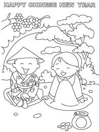 chinese new year kid kids chinese new year coloring pages happy