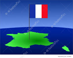 french flag on map stock illustration i1415945 at featurepics