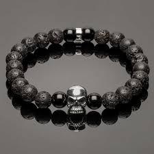 bracelet skull silver images Minimal silver skull lava bracelet djakob jpg