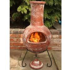 Chiminea Outdoor Fireplace Clay - terracotta chiminea tutorial miniature screened in porch
