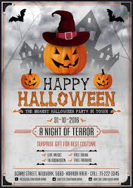 scary halloween night flyer design template psd