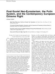 15 extremely sleek and contemporary post soviet neo eurasianism the putin system and the
