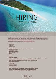 Sky Chef Jobs Dusit Thani Maldives U2014 Maldives Jobs