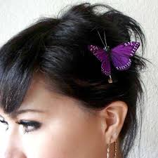 bohemian hair accessories purple butterfly hair clip hair accessories for women