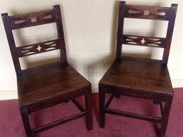 Antique Oak Ladder Back Chairs Two 18th Century Oak Side Chairs Or Single Ladder Back Chairs