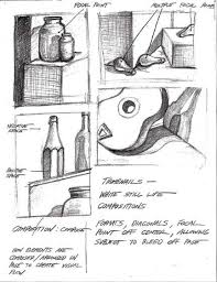 still life drawing thumbnails sometimes it is nice to use words