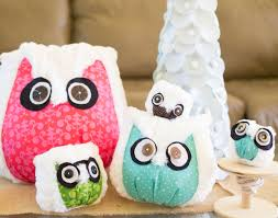 show saturday diy owl ornaments sewcanshe