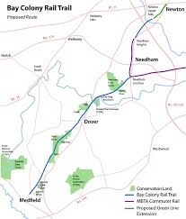 Mbta Commuter Rail Map Area Map With Conservation Land The Bay Colony Rail Trail