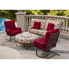 Vintage Wrought Iron Patio Furniture - furniture modern circle table vintage woodard wrought iron patio