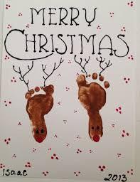 diy reindeer footprint great craft for little ones footprints