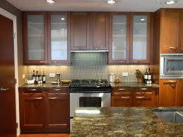 kitchen cabinet doors glass soothing having brown varnished wooden kitchen cabinet glass