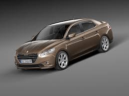 peugeot car 301 301 2013 sedan 3d model