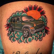 jeep liberty cartoon memorial jeep liberty tattoo done by phil deangulo at long street