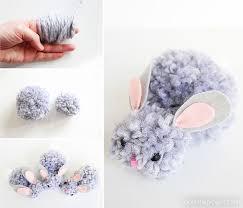 how to make pom pom bunnies pom pom yarn bunnies