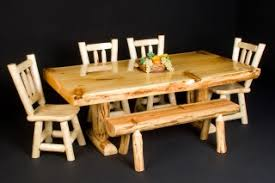 log dining room furniture rustic table and dining room decor