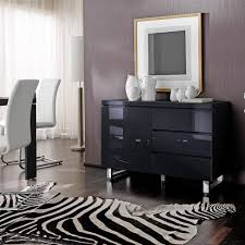 Black Gloss Sideboards Sideboard Sydney Small Sideboard In Gloss Black With 3 Drawers And
